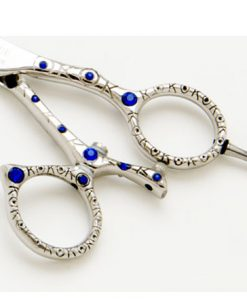 Blue Ribbon Swivel Handle Hair Cutting Scissor