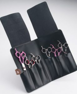 Brown Dotted Hair Cutting Scissor Case