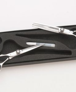 Kansai Lefty Scissor Thinner Set with Black Dials