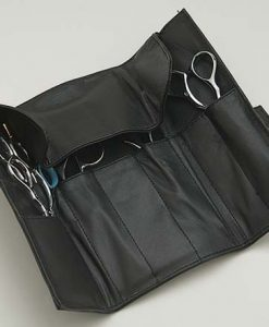 Shisato 6 Scissor Black Leather Case with Snap