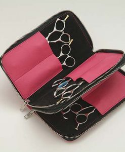 Shisato 8 Scissor Fabric Case with Pink Leather Trim