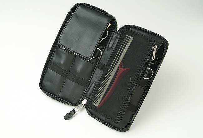 Black 8 Shear Zippered Case with Mesh Pouch