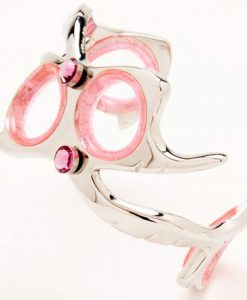 Shear Bracelet With Pink Charms
